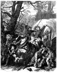 Medieval : Thiefs Attacking Travelers - 15th-16th century
