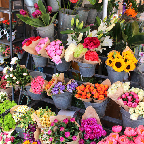 canvas print picture Fleuriste - Flowers shop