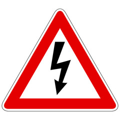 Sign of danger - weather, electricity etc.