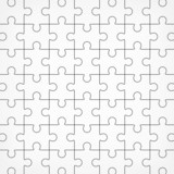 Jigsaw seamless puzzle blank template