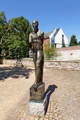 Skulptur an der Stadtbibliothek Paderborn