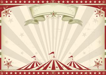 Horizontal vintage circus