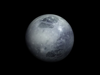 3D-rendering of the planet Pluto, high resolution