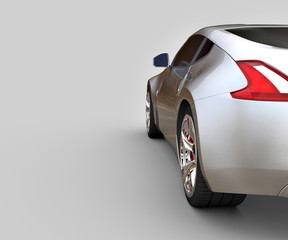 A CG render of a generic luxury sports car