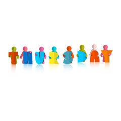 Thursday Colorful Title - Paper Cut People