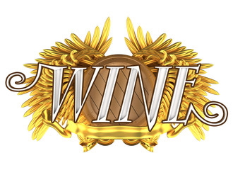 wine label with wings