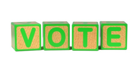 Vote on Colored Wooden Childrens Alphabet Block.