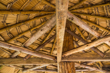 Wooden gazebo roof