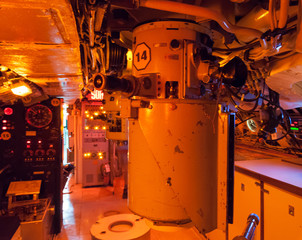 Interiors of a submarine
