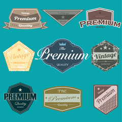 Vector of retro vintage badges emblems