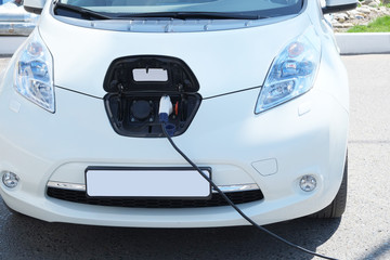 Electric Car Charging Outdoor