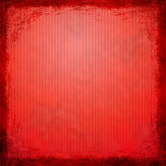 Red grunge background. Abstract vintage texture with frame and b