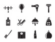 Silhouette Personal care and cosmetics  icons