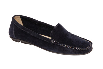 dark blue shammy mocassin