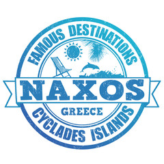 Naxos, famous destinations stamp