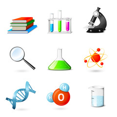 Science Realistic Icons