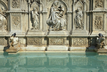 Fonte Gaia Fountain in Siena (Tuscany, Italy)