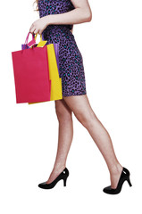 Girl with shopping bag's.