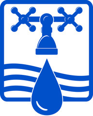 water drop and spigot icon