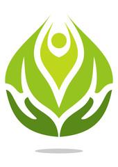 Hand energy health icon