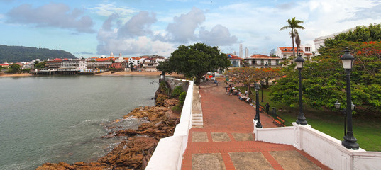 Panorama in the old town of Panama City