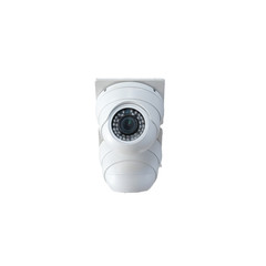 security camera on white background, cctv in home