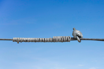 metal line fastening