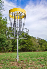 Disc golf hole in the park