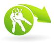 clef sur web symbole vert