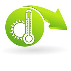 chaleur sur web symbole vert
