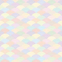 鮫小紋 カラフル青海波