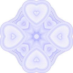 Mandala guilloche de corazon