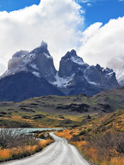 Grandiose landscape in the Chilean Andes, Patagonia