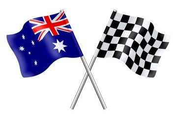 Flags: Australia and checkerboard