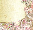Abstract Peach Floral Background