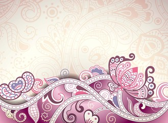 Abstract Purple Floral Background