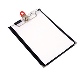 Clipboard and pen.