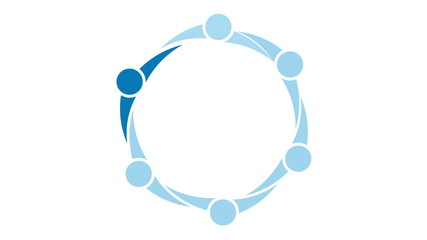 Leadership People Circle Concept