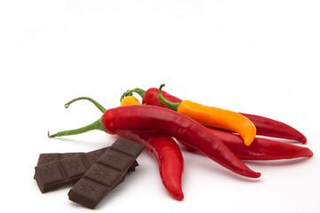 Chilis und Schokolade Detail
