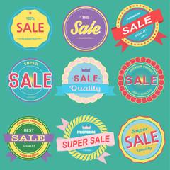 Vector of sale badges emblems