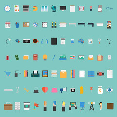Vector Flat design of Business icon big set