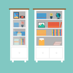 Vector of Book case