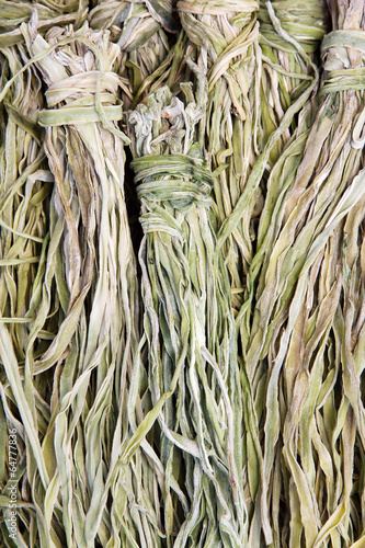 vegetable dried in Oshino Village, japan