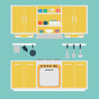 Vector of Kitchen and Owen