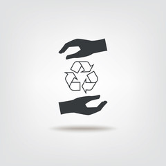 Recycle and Recall concept sign icon