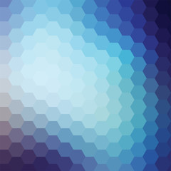 Vector Blue Aqua Hexagon