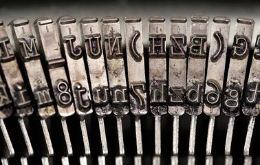 Vintage typewriter detail