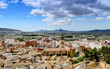 View from Villena Castle over town, Alicante Province, Spain