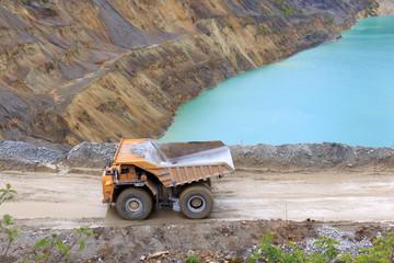 Truck in open pit