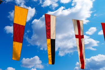 Nautical Flags on a Blue Sky (098)